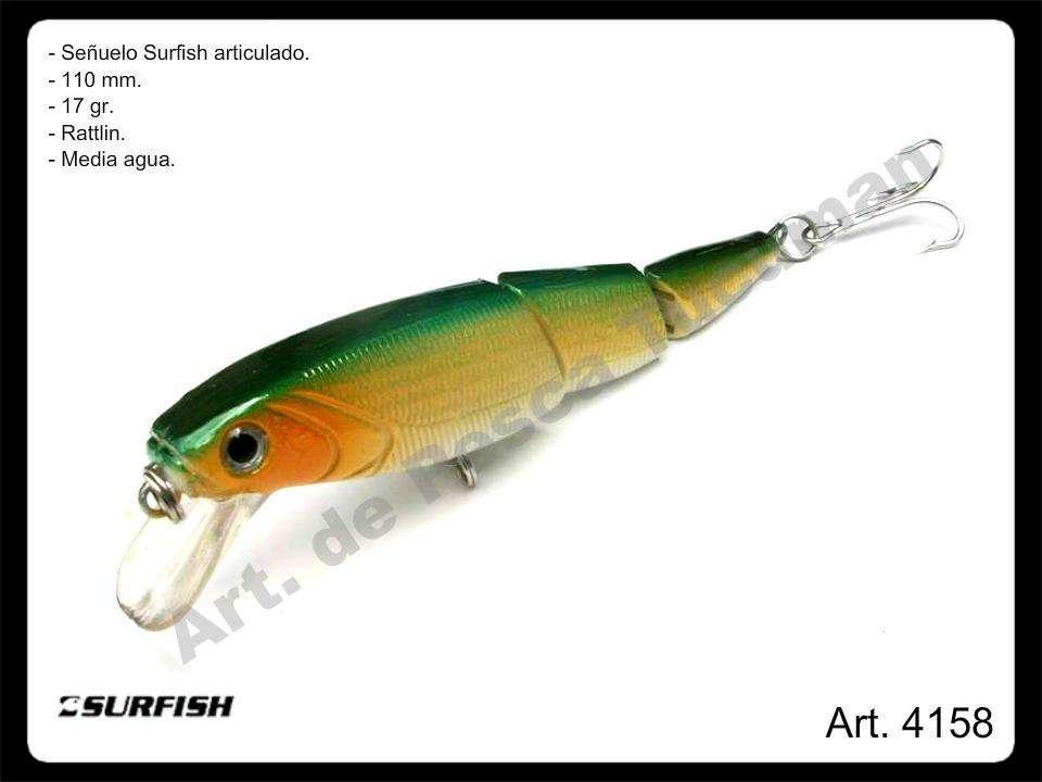 Señuelo Surfish articulado 110 mm. Pesca.