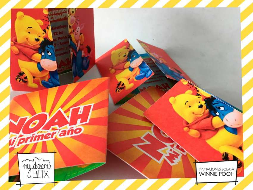 Invitacion Winnie The Pooh Souvenirs Disney Tarjetas