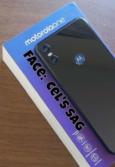 MOTOROLA ONE NUEVOS 64GB. ACEPTO CELULAR Y EFECTIVO