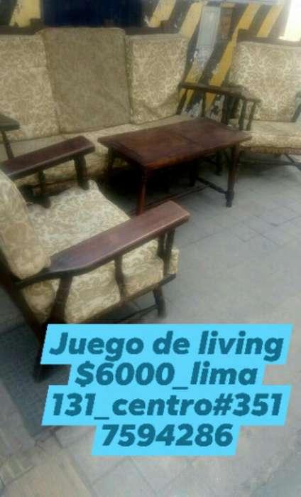 Juego de Living de Estilo con <strong>mesa</strong> 5000