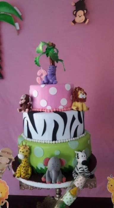 Maqueta de Torta Zafari para Niña