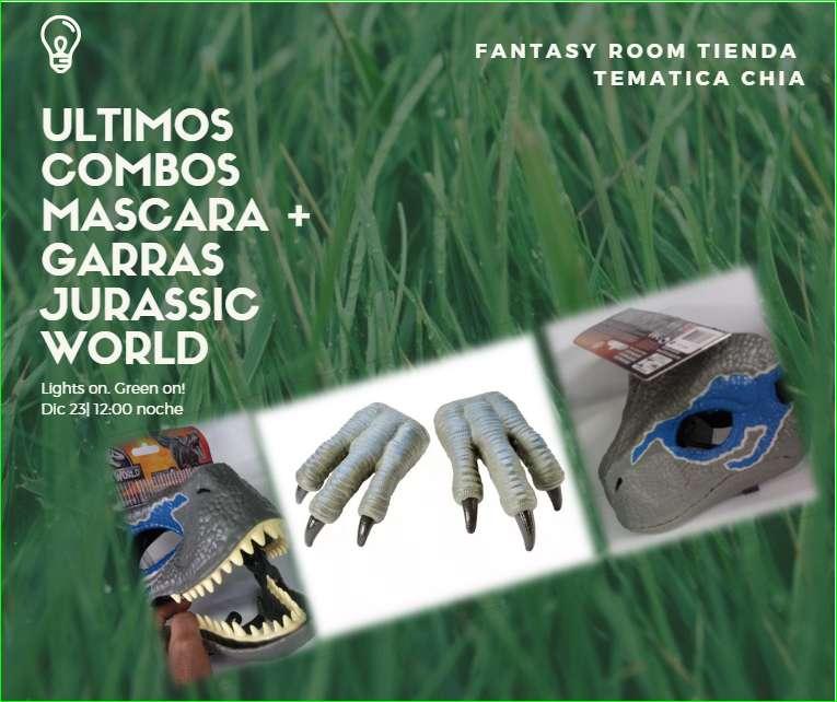 Combo Mascara y Garras Raptor Blue Jurassic World Mattel