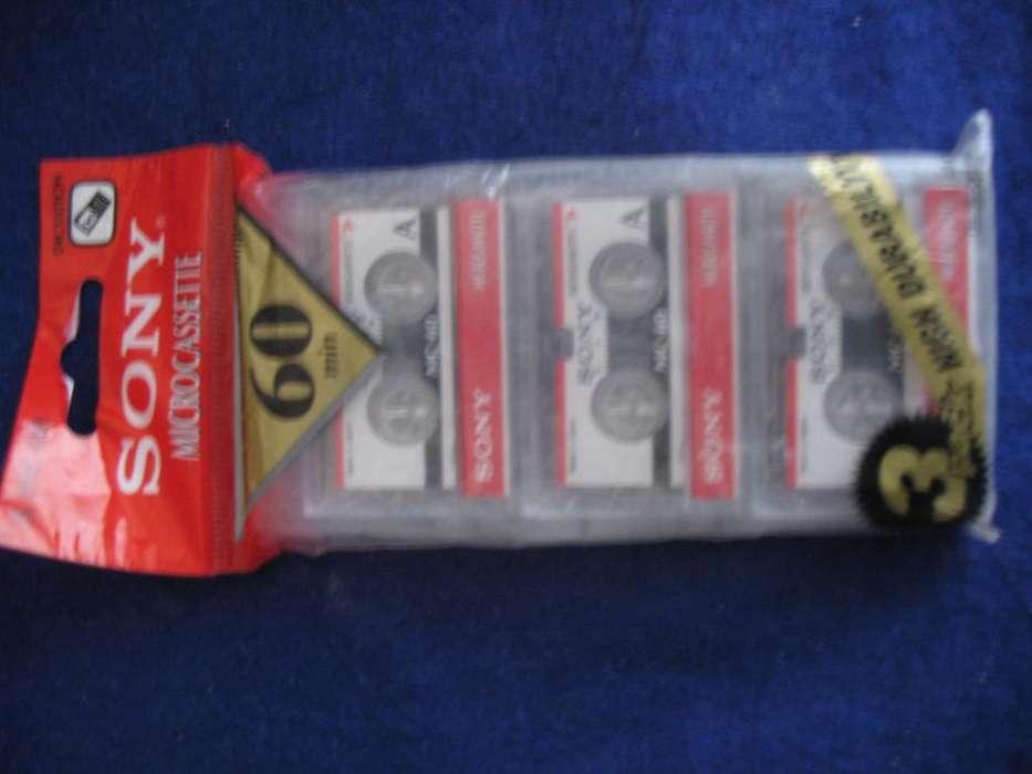 minicassette Sony micro cassette 60 minutos