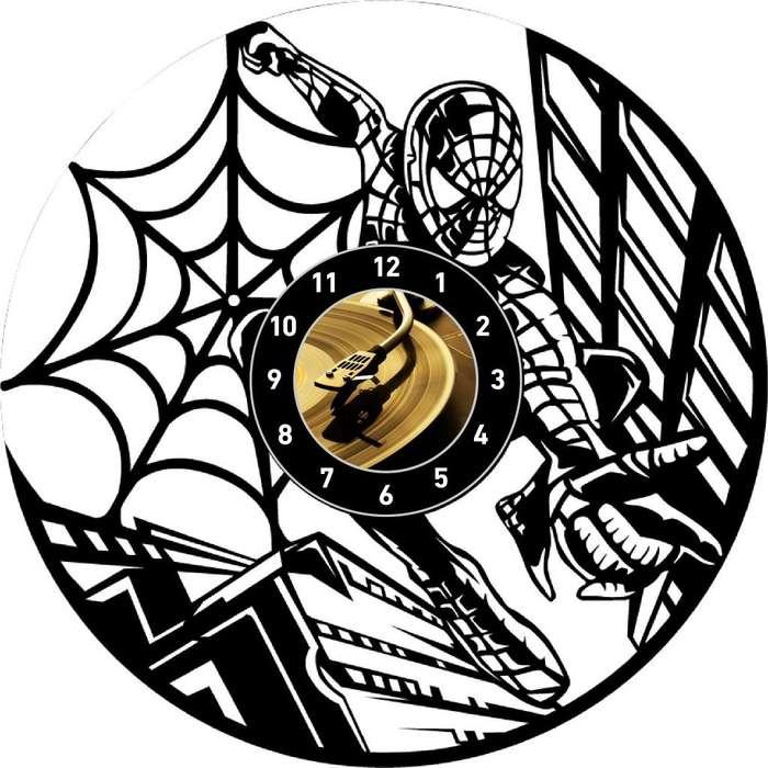 Spiderman Reloj en Disco Acetato