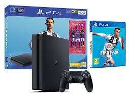 PS4 SLIM 1TB, FIFA 2019 BUNDLE, NUEVA SELLADA, TIENDATOPMK