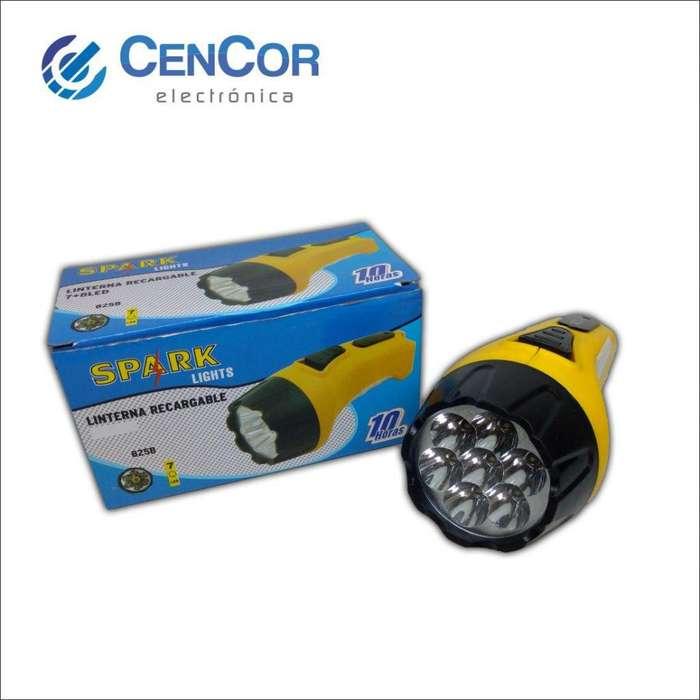 Linterna 7 Led Recargable! CenCor Electrónica