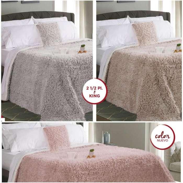 Jc Edredón Lion Gris / Vison / Rosa 2 1/2 Plazas y King Size