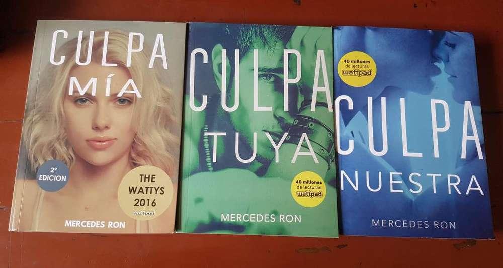Libros Saga Completa Culpa mía, tuya y nuestra Mercedes Ron