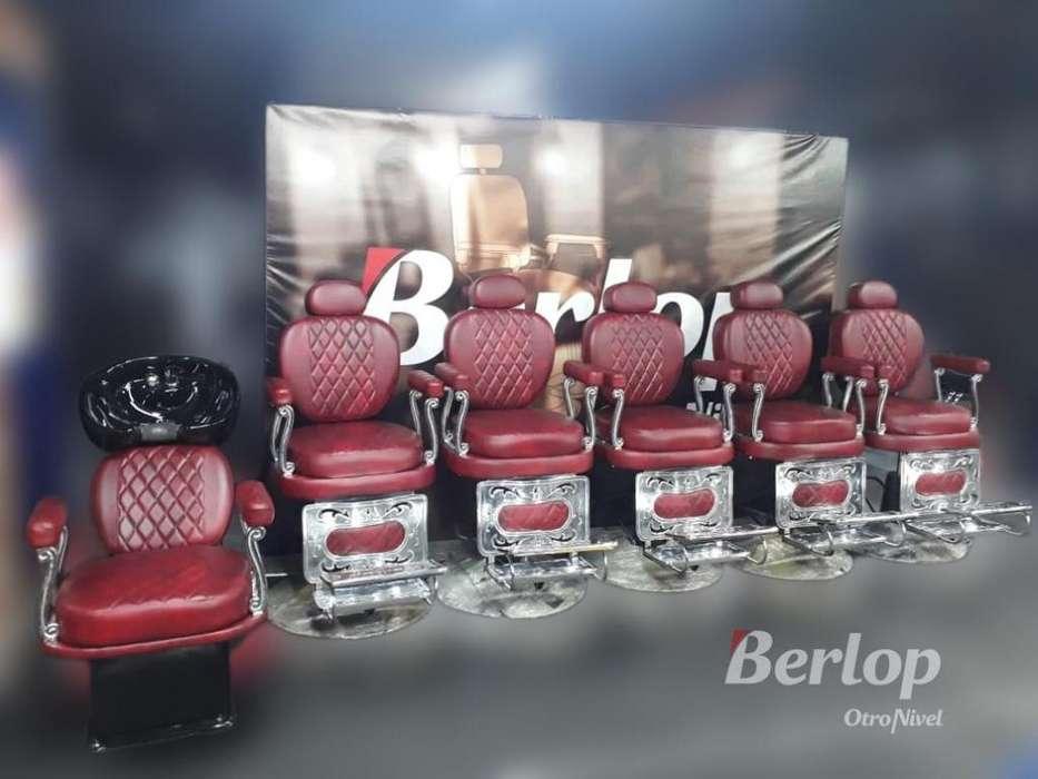 <strong>sillas</strong> de barbería clásicas rojas