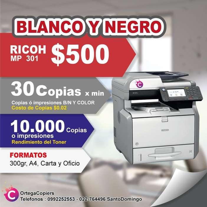 COPIADORA RICOH MP301