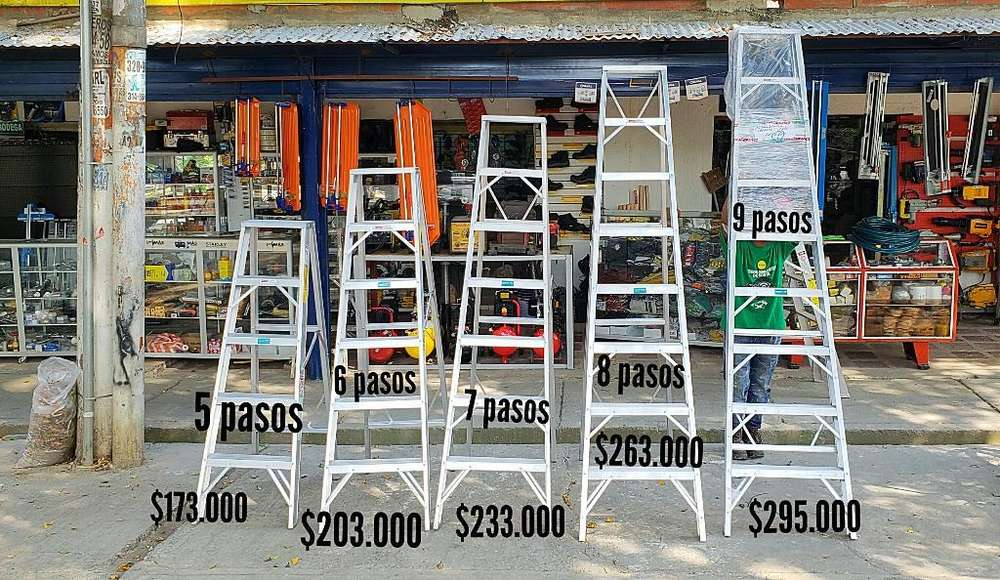 Escaleras de Aluminio en Tijera Nuevas