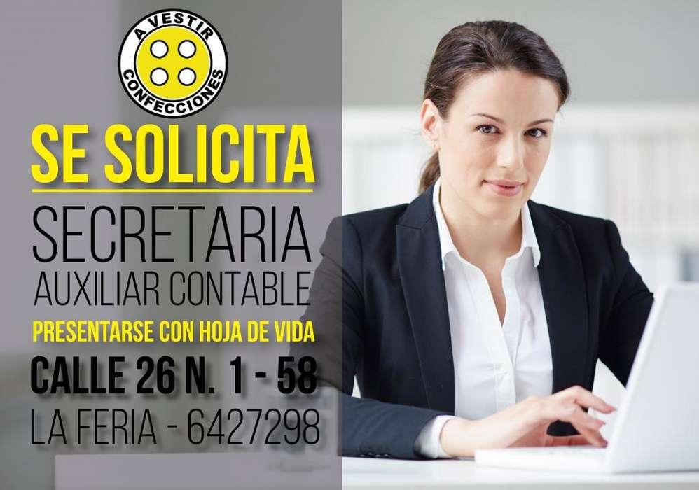 Se necesita SECRETARIA <strong>auxiliar</strong> CONTABLE, CON EXPERIENCIA MÍNIMA DE 1 AÑO