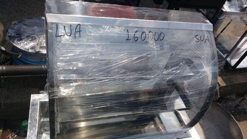 Vitrina de Calefacción vidrio curvo nueva 60 cm