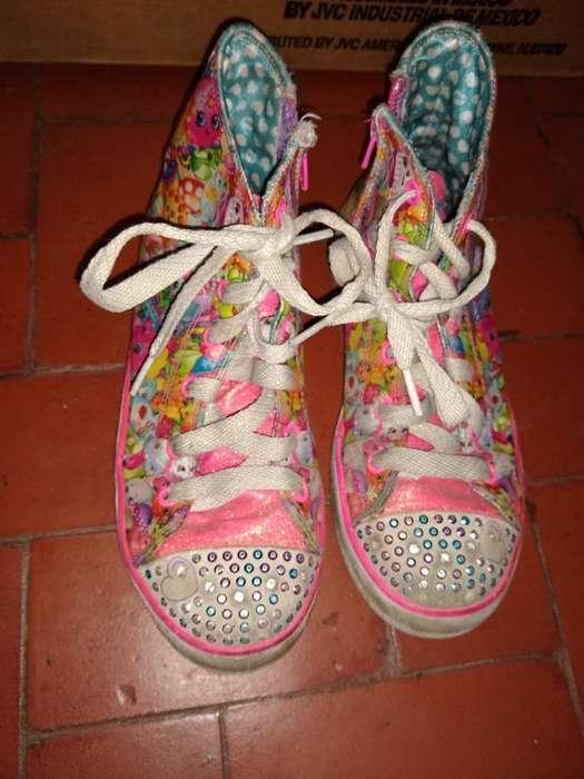 Zapatillas de Nena Talle 35 con Luces