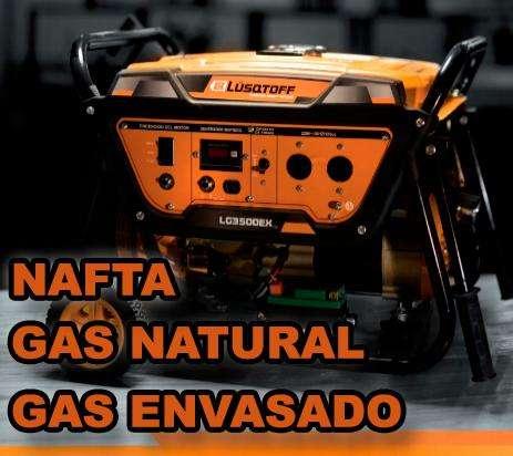 generador electrico grupo electrogeno Lusqtoff 3500 Gas y nafta aceite Honda