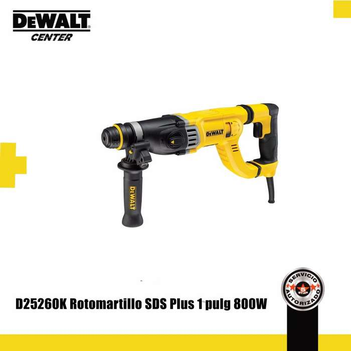 D25260K ROTOMARTILLO SDS PLUS 1 PULG 800W 3 MODOS