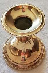 Antiguo candelabro de bronce plateado de Alemania