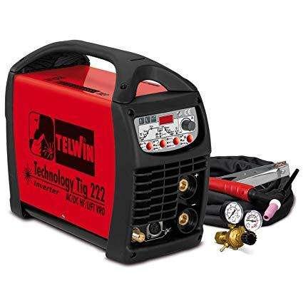 SOLDADORA PROFESIONAL TELWIN DE PROCESO TIG/ELECTRODO 200AMP . AC/DC