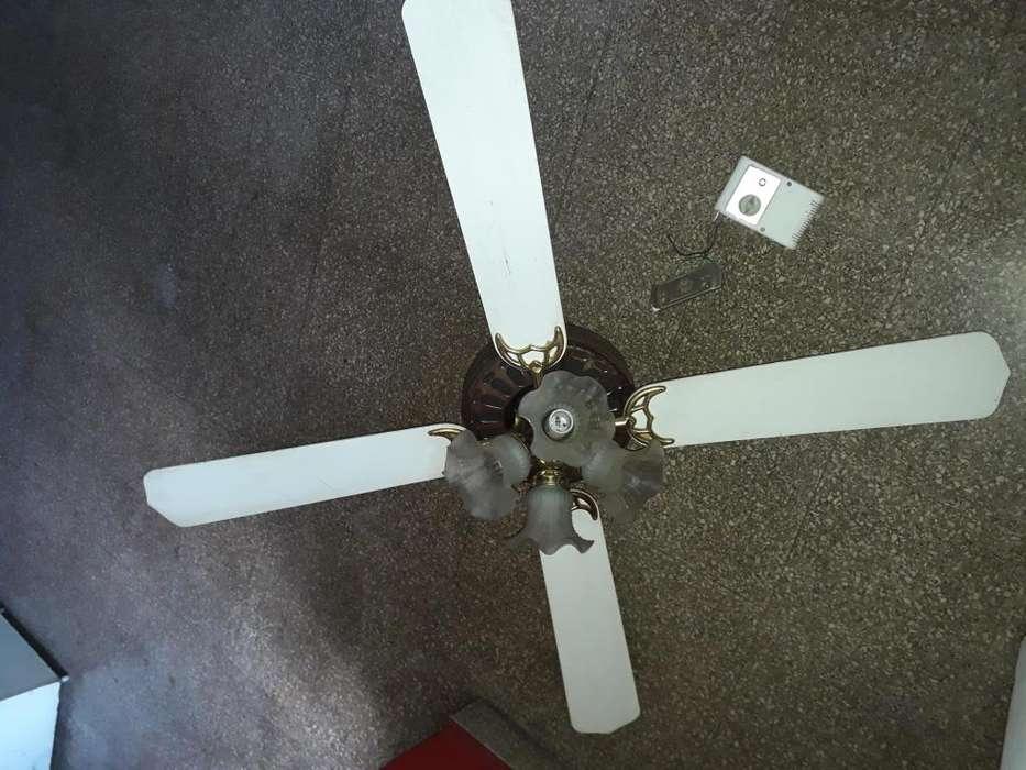 Ventilador de techo HISHI 4 aspas y tulipas, 5 velocidades