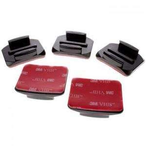 Bases Curvas para Gopro cámaras de acción con pegatiga o abhesivo.