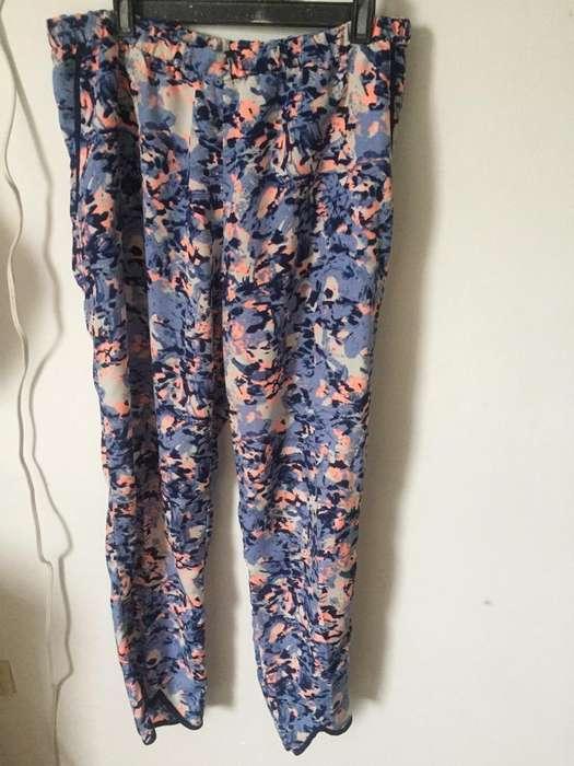Pantalon Estampado Talla L