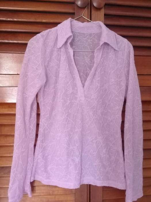Camisa lila para dama talle S 100
