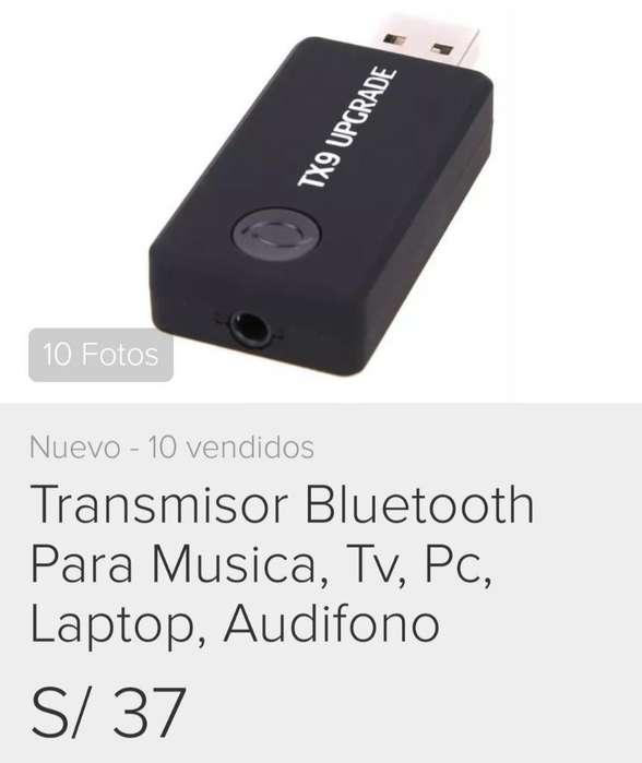 Transmisor Bluetooth Par Audio Música Tv