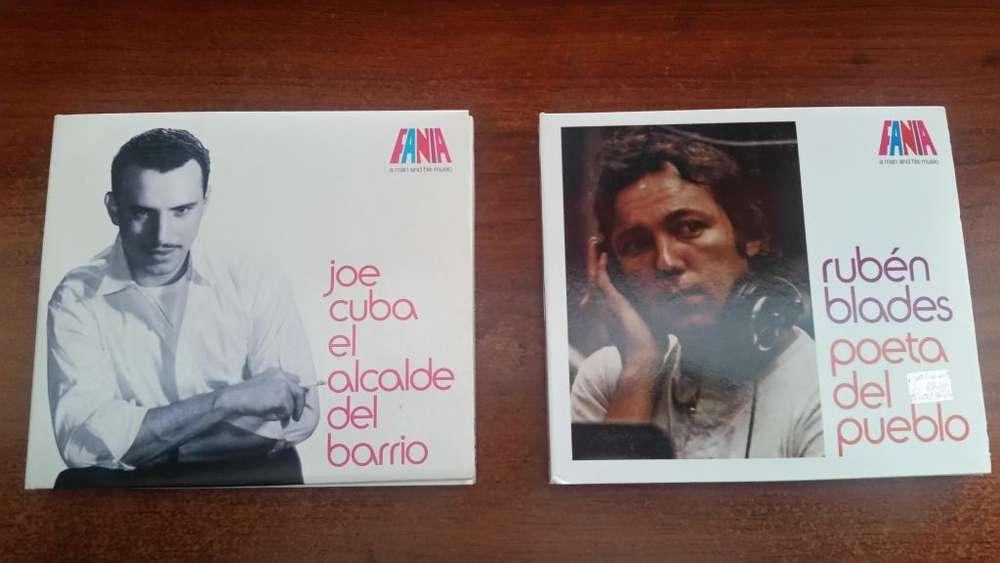 CDs y Libro de Fania Records originales nuevos.