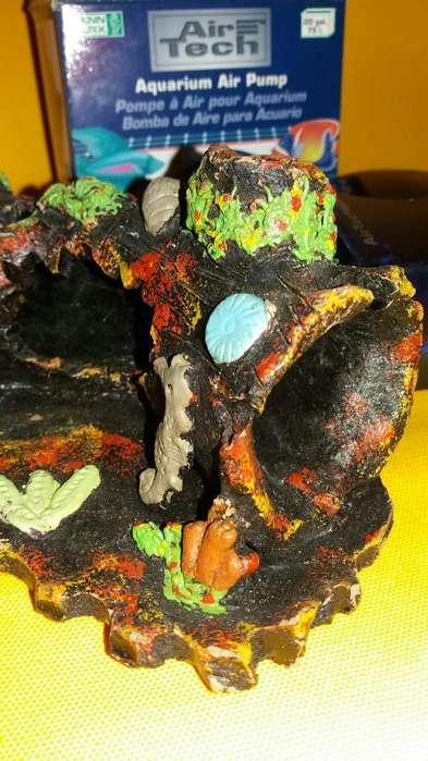 Tronco Ceramica Acuario <strong>peces</strong> Mascotas