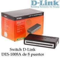 Switch 8 Puertos Dlink Des1008a 10/100 Nuevo