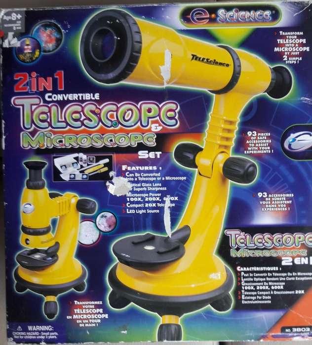 Microscopio y Telescopio 2 en 1.