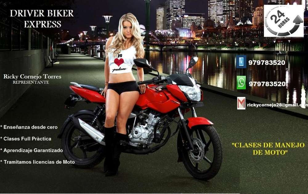 Clases De Manejo De Moto Lineal, scooter, moto taxi, etc.. Tramitamos Licencia de moto y vendemos Soat Digital