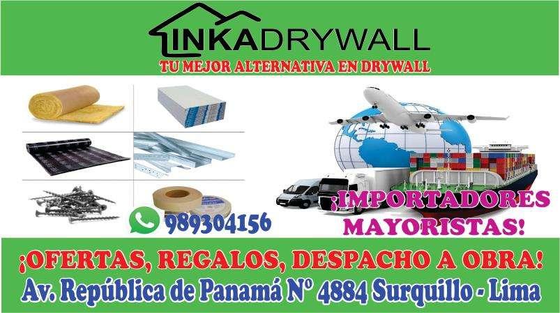 DRYWALL MATERIALES TECHOS ACUSTICOS PLANCHAS DE YESO CIELO RASO PERFILES METALICOS