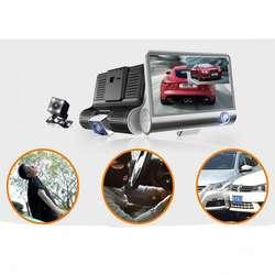 Camara video Carro Pantalla LCD 4 Pulgadas 3 Camaras HD Microfono integrado, Nuevos, Originales, Garantizados...