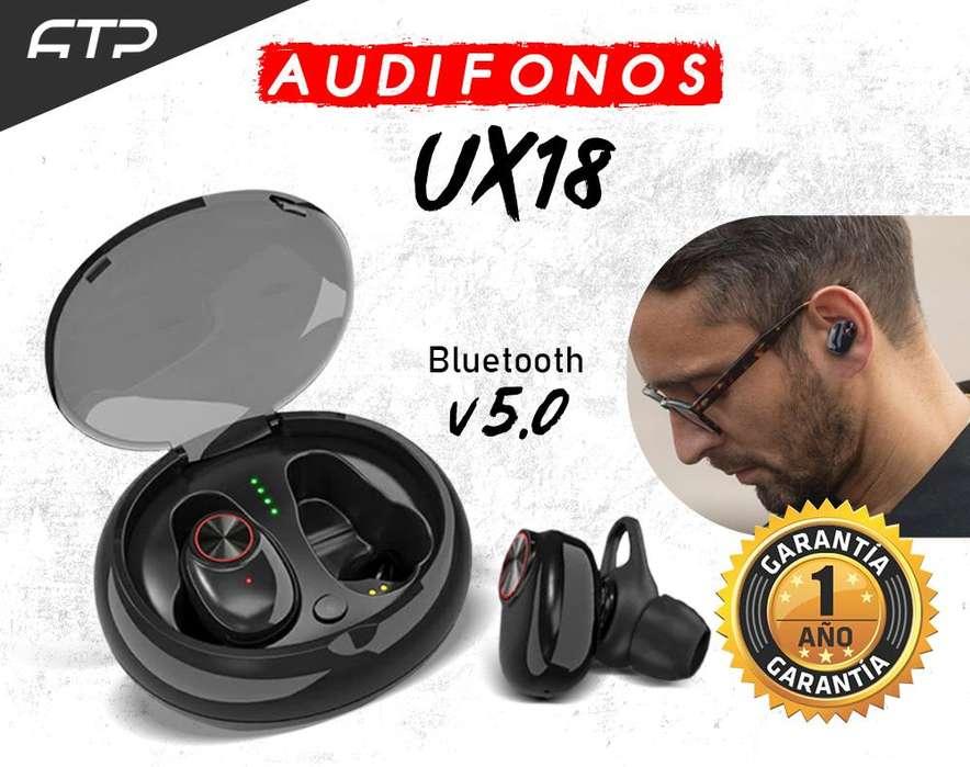 Audifono Bluetooth 5.0 Inalámbrico x18 Negro Compatible Android y Iphone / Envios a domicilios / 1 AÑO DE GARANTIA