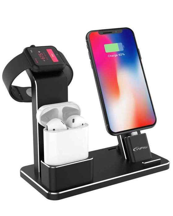 Soporte de Carga iPhone, Airpods Y Apple Watch