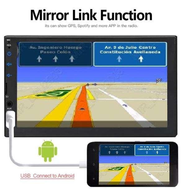 RADIO PARA CARRO PANTALLA MIRROR LINK TACTIL USB BLUETOOTH PANTALLA CAPACITIVA