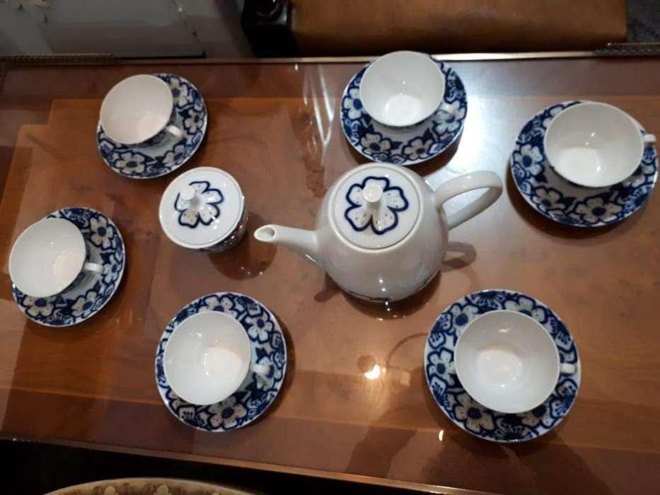Juego de Té ,porcelana Verbano, sin Uso.