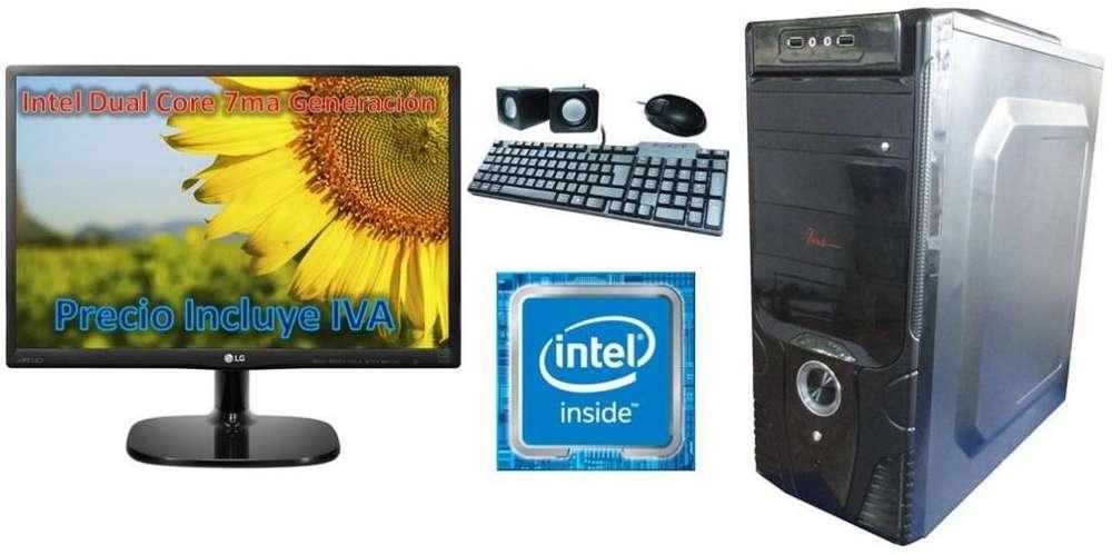 Computadora Cpu Dual Core Nueva Generacion 2tb 4gb Led 20, I3 i5 i7 PRECIO INCLUYE IVA ENTREGA A DOMICILIO