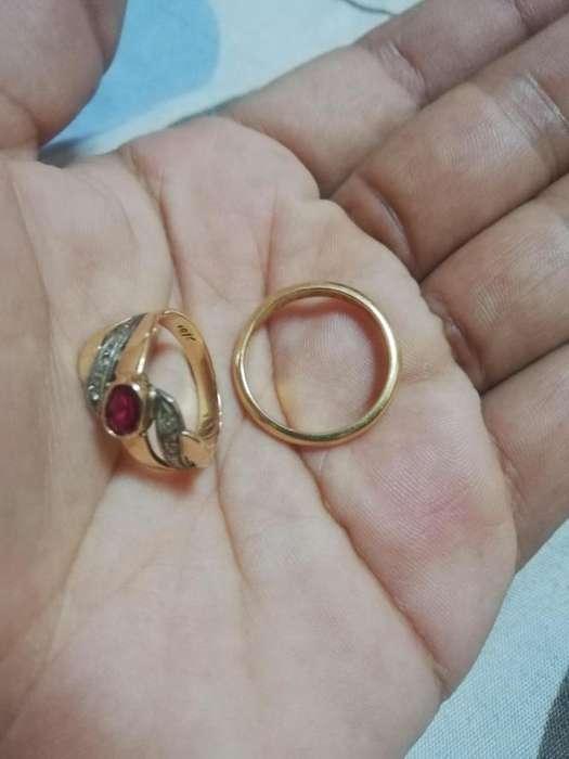 Remato anillos de matrimonio de oro de 18k
