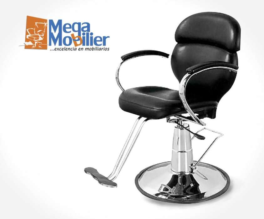 Megamobilier l Sillón Reclinable Smile, Promocion, Spa, Hidráulico, Barberia, Peluqueria, Gabinete, Profesional.