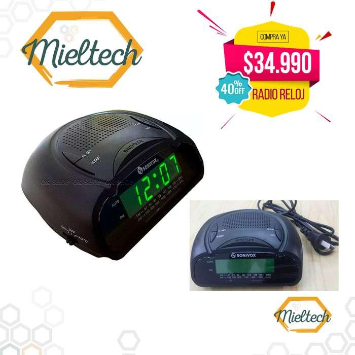 despertador reloj digital radio con alarma