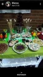 Mesas Dulces con Cascada de Chocolate...