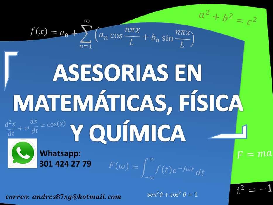 Asesorías acedémicas en Matemáticas, Física y Química