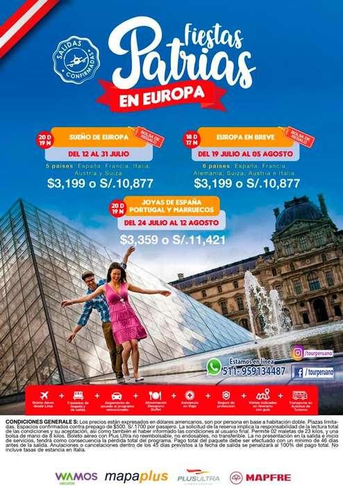 Fiestas Patrias en Europa salida desde Lima