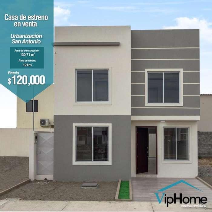 Casa de estreno Urbanización San Antonio Via Salitre km11 financiamiento con BIESS Banca Privada o ISSFA