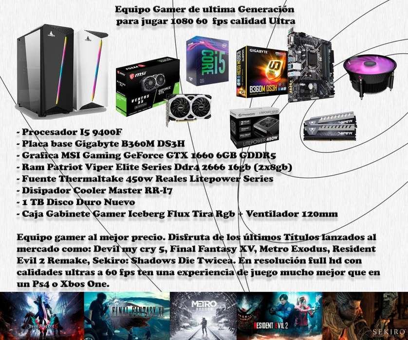 PC Gamer 1080p 60fps Calidades Ultra