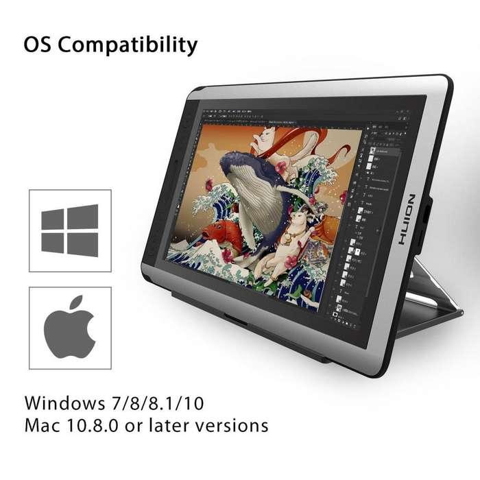 Tablet Monitor Pen Display Huion Kamvas GT-156HD V2