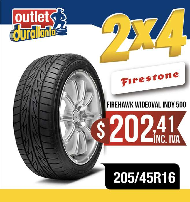 <strong>llantas</strong> 205/45R16 FIRESTONE FIREHAWK WIDEOVAL INDY 500 ROOMSTER SCOUT ROOMSTER STYLE