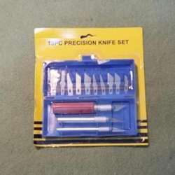 SET CUTTER BISTURÍ DE PRECISION 13 hojas de cuchillas intercambiables 3 Mangos Comoda caja para su correcto cuidado